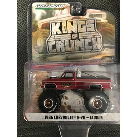 GREENLIGHT COLLECTABLES GLC 49060D KINGS OF CRUNCH SERIES 6 1/64 SCALE 1986 CHEVROLET K-20 TAURUS