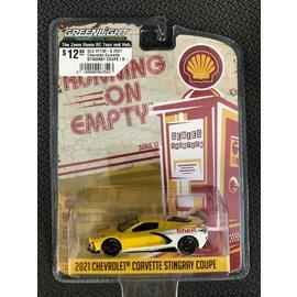 GREENLIGHT COLLECTABLES GLC 41130-E 2021 Chevrolet Corvette STINGRAY COUPE / SHELL OIL
