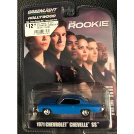 GREENLIGHT COLLECTABLES GLC 44920-F 1971 CHEVROLET CHEVELLE SS BLUE / THE ROOKIE