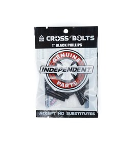 "Independent Bolts Philips 1.25"" Black"