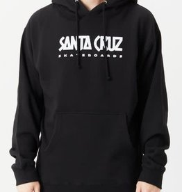 Santa Cruz Ad Strip Hoodie Black MED