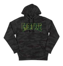 Creature Psych Outline Pullover Hoodie Black Camo MED