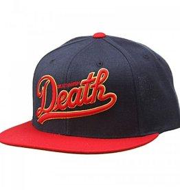 Deathwish Dragon Snapback Hat Navy/Red