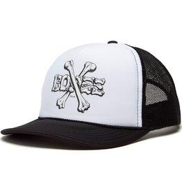 Powell Peralta Cross Bones Mesh Hat Black/White