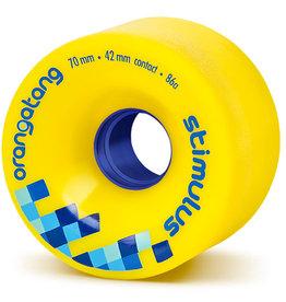 Orangatang Longboard Wheels Stimulus Yellow 70mm 86A