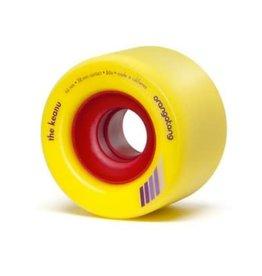 Orangatang Longboard Wheels The Keanu Yellow 66mm 86A