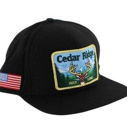 Skate Mental Cedar Ridge Snapback Hat Black