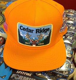 Skate Mental Cedar Ridge Snapback Hat Orange