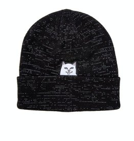 Ripndip Beanie Lord Nermal Reflective Yarn Black O/S