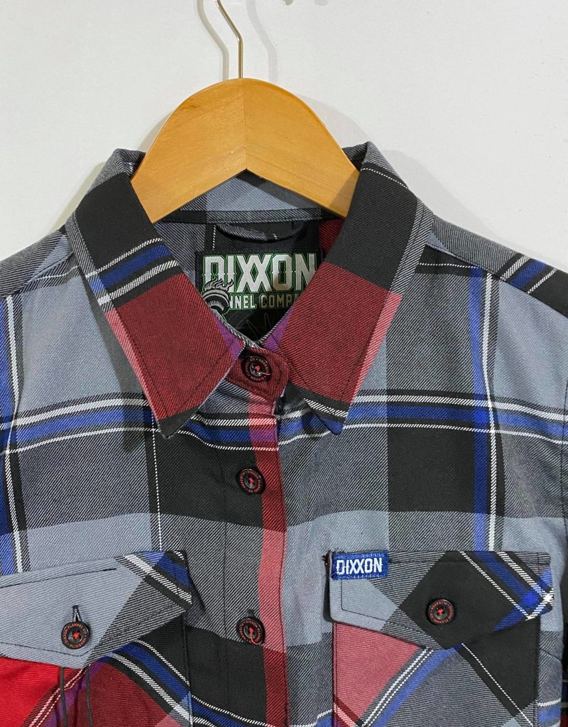 Dixxon Womens Plissken Flannel Grey/Red