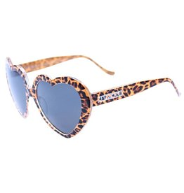 Happy Hour Leopard Heart Ons Sunglasses