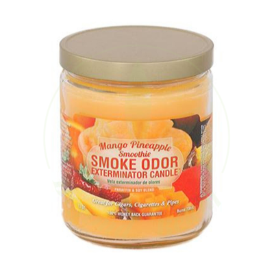 SMOKE ODOR SMOKE ODOR 13oz JAR CANDLE - MANGO PINEAPPLE SMOOTHIE