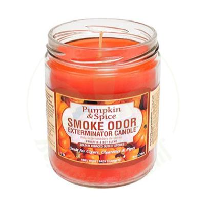 SMOKE ODOR SMOKE ODOR 13oz JAR CANDLE - PUMPKIN & SPICE