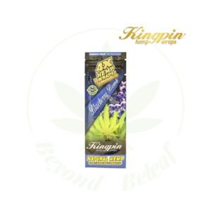KINGPIN KINGPIN HEMP WRAPS 4 PACK BLUEBERRY BOMB