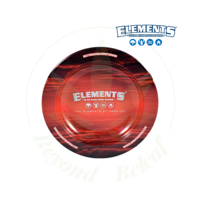 ELEMENTS ELEMENTS RED METAL ASHTRAY