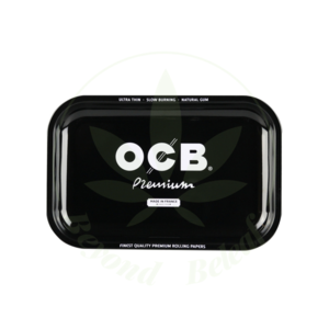 """OCB OCB ROLLING TRAY - 7.5"""" x 11"""" PREMIUM BLACK"""