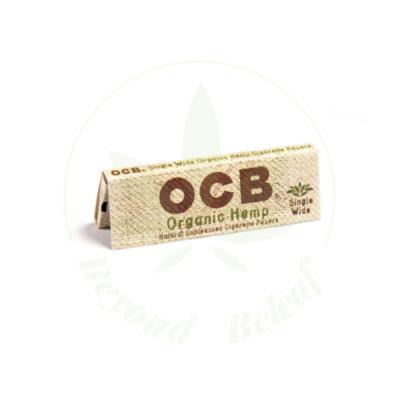 "OCB OCB ORGANIC HEMP PAPERS  SINGLE WIDE 1"""