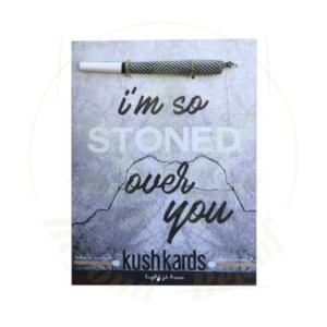 KUSH KARD KUSHKARDS GREETING CARD STONED OVER YOU
