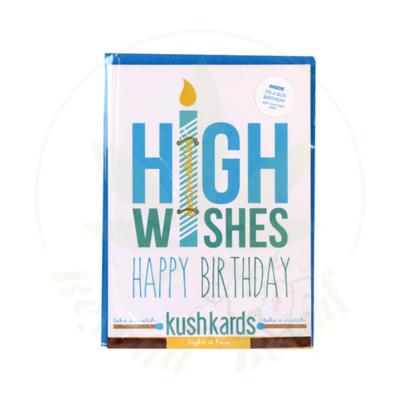 KUSH KARD KUSHKARDS GREETING CARD HIGH WISHES