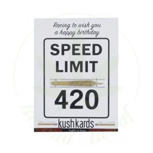 KUSH KARD KUSHKARDS GREETING CARD SPEED LIMIT 420