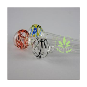 "EHLE EHLE COLOURED GLASS OIL PIPE - 5"" RED/ORANGE"