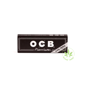 "OCB OCB BLACK PREMIUM 1.25"" ROLLING PAPERS W/ FILTERS - 50 PACK"