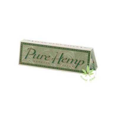 PURE HEMP PURE HEMP REGULAR SINGLE WIDE ROLLING PAPERS - 50 PACK