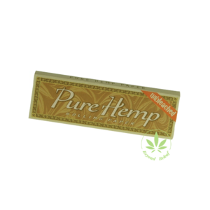 PURE HEMP PURE HEMP REGULAR SINGLE WIDE UNBLEACHED ROLLING PAPERS - 50 PACK