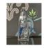 """KAHUNA GLASS KAHUNA GLASS 4.5"""" CLEAR SHARK RIG - 14mm RAINDROP"""