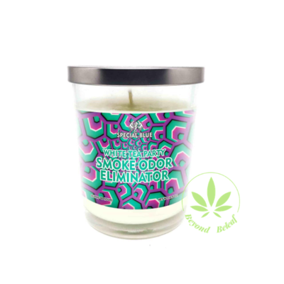 SPECIAL BLUE SPECIAL BLUE ODOR ELIMINATOR CANDLE (WHITE TEA PARTY)