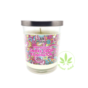SPECIAL BLUE SPECIAL BLUE ODOR ELIMINATOR CANDLE (PINK DELIGHT)