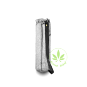 "VATRA VATRA 24"" GREY WOOVEN TUBE BAG"
