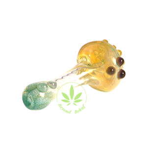 ECKARDT GLASS ECKARDT GLASS SILVER FUMED TWISTED SPOON