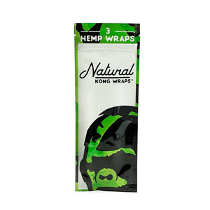 KONG KONG NATURAL PREMIUM HEMP WRAPS - 3 PER PACK