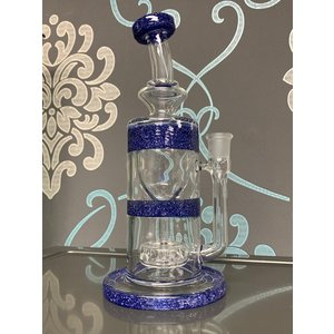 "FULL ZIRKL FULL ZIRKL 9"" GLASS TORUS (BLUE BLIZZARD)"