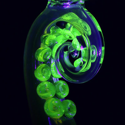 LERMA GLASS LERMA GLASS UV ILLUMINATI TENTACLE TUBE