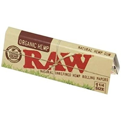"RAW RAW ORGANIC 1.25"" ROLLING PAPERS - 50 PACK"