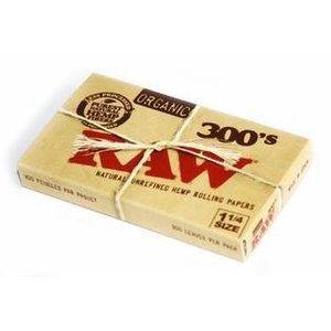 "RAW RAW ORGANIC 1.25"" ROLLING PAPERS - 300 PACK"