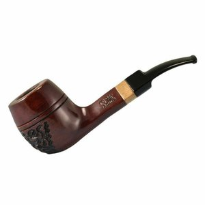 """SHIRE PIPE SHIRE PIPE 5.5"""" ENGRAVED BULLDOG ROSEWOOD PIPE"""