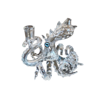 """OCTOPUS 5.5"""" GLASS WATER PIPE - 14mm"""