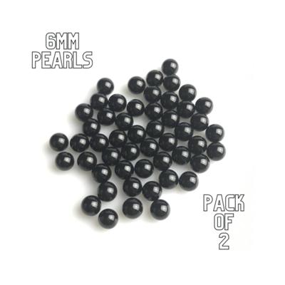 GENERIC BLACK 6mm TERP PEARLS - PACK OF 2