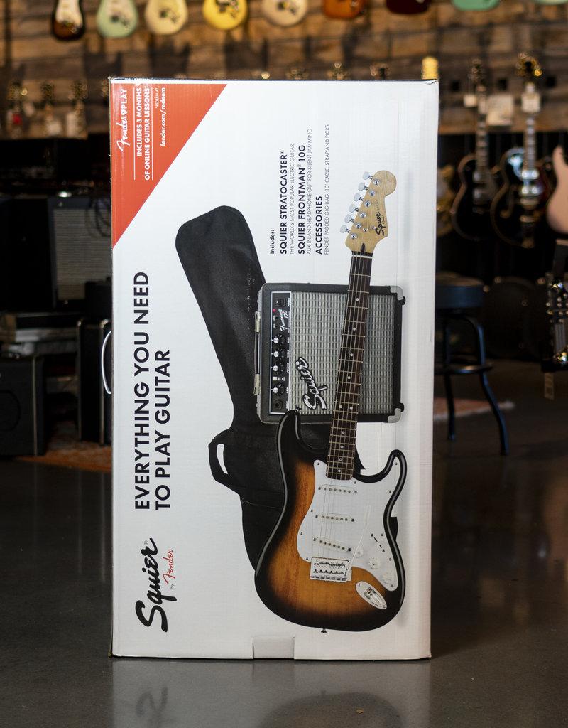 Squier Squier Stratocaster Pack, Laurel Fingerboard, Brown Sunburst, Gig Bag, 10G