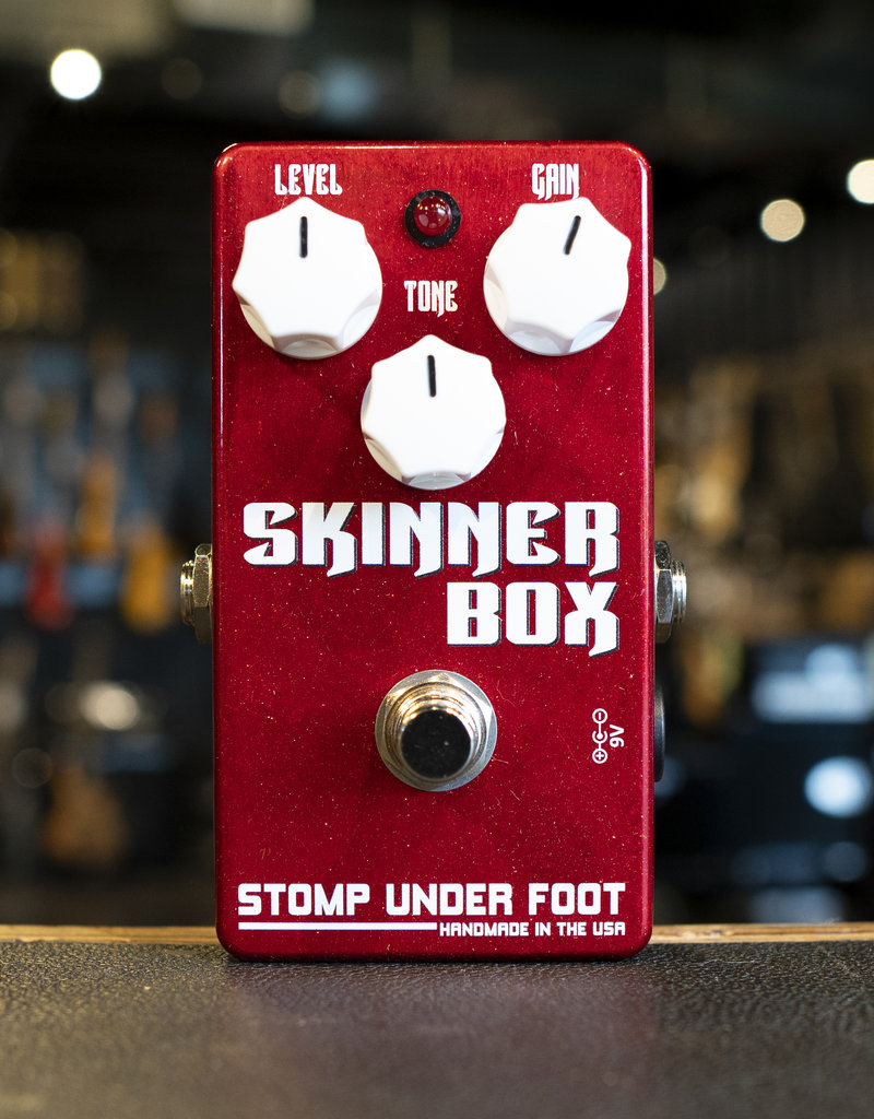 Stomp Under Foot Stomp Under Foot Skinner Box Distortion Overdrive Pedal