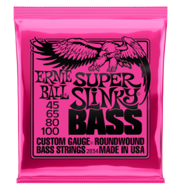 Ernie Ball Ernie Ball 2834 Super Slinky Nickel Wound Electric Bass Strings - .045-.100