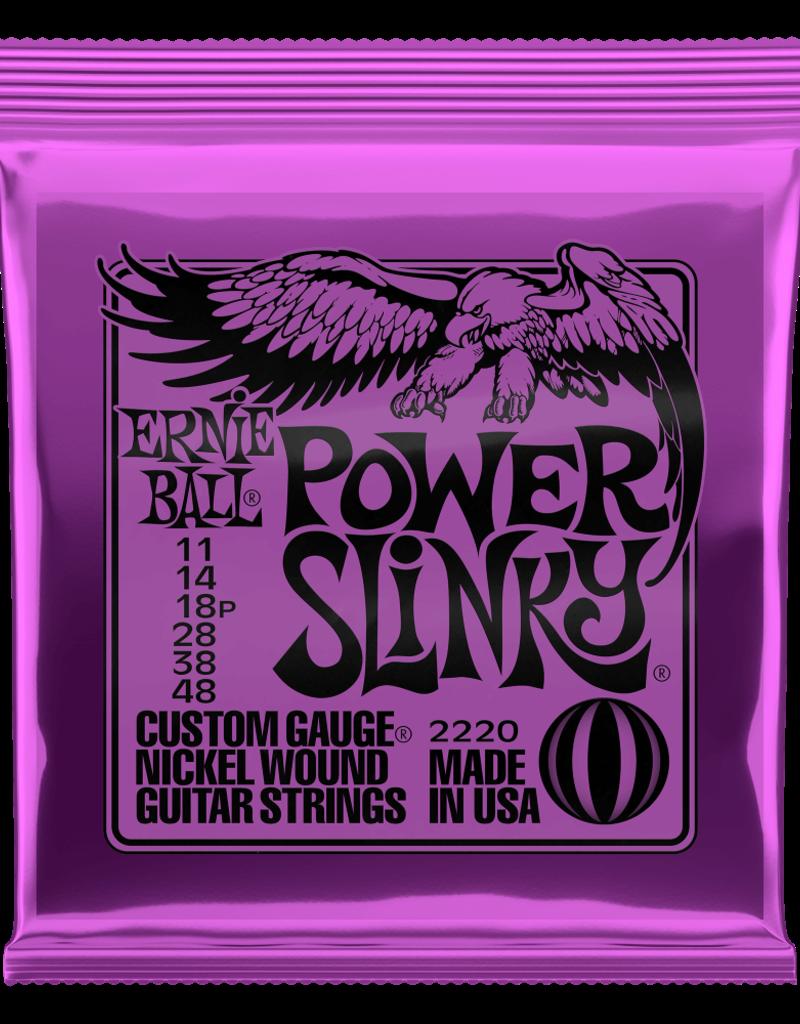Ernie Ball Ernie Ball 2220 Power Slinky Nickel Wound Electric Guitar Strings - .011-.048