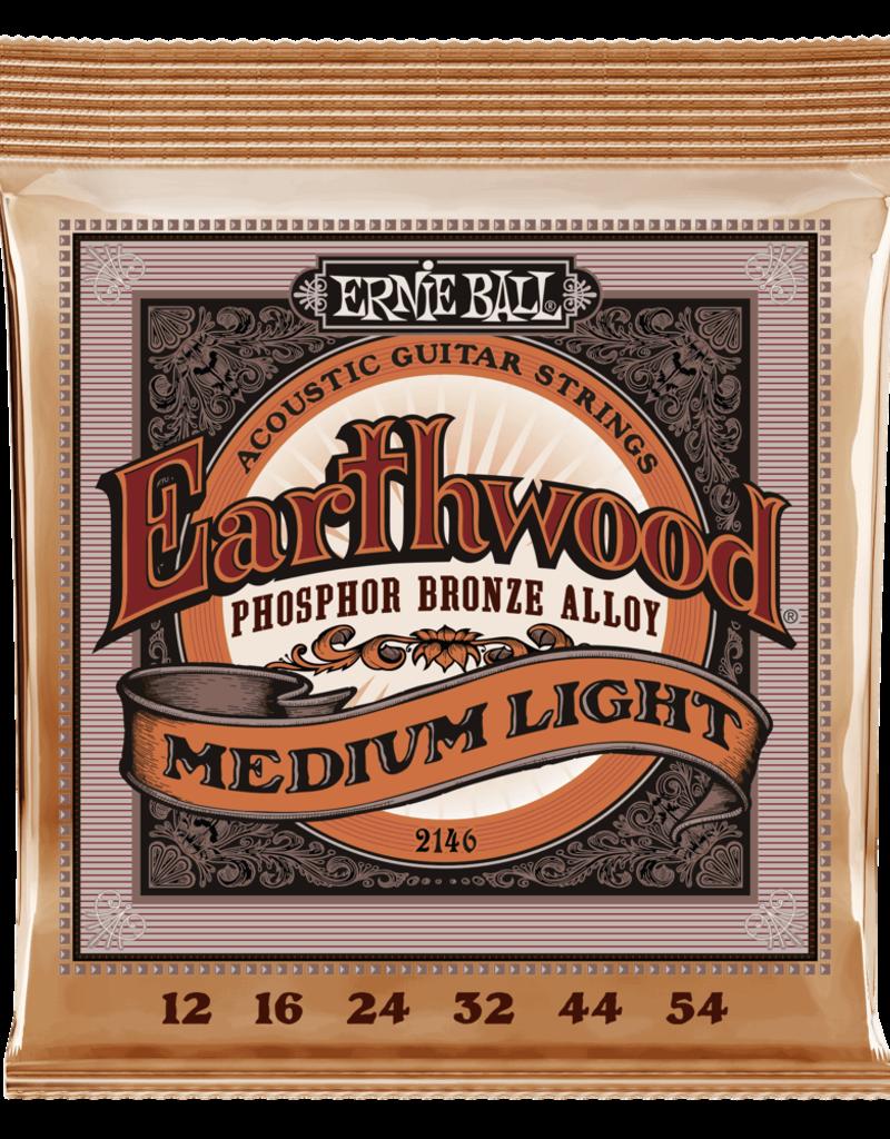 Ernie Ball Ernie Ball 2146 Medium Light Earthwood Phosophor Bronze Acoustic Strings - .012-.054