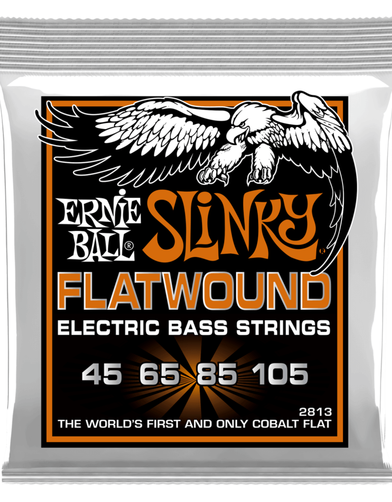 Ernie Ball Ernie Ball 2813 Hybrid Slinky Flatwound Electric Bass Strings - .045-.105