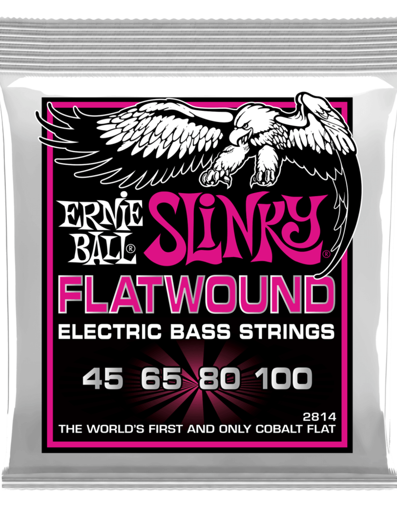 Ernie Ball Ernie Ball 2814 Super Slinky Flatwound Electric Bass Strings - .045-.100