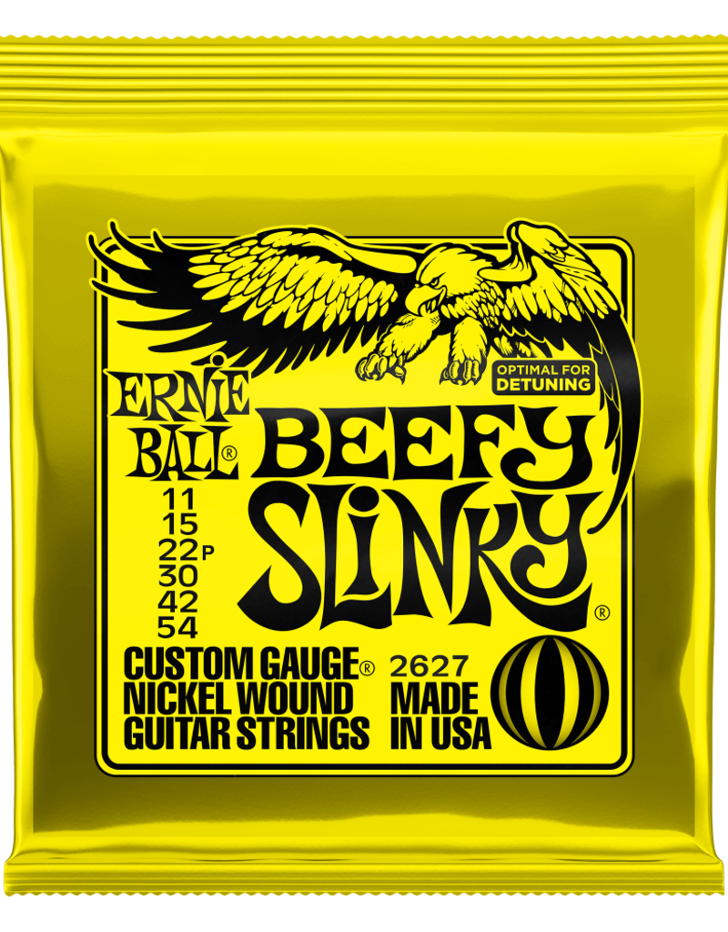Ernie Ball Ernie Ball 2627 Beefy Slinky Nickel Wound Electric Guitar Strings - .011-.054