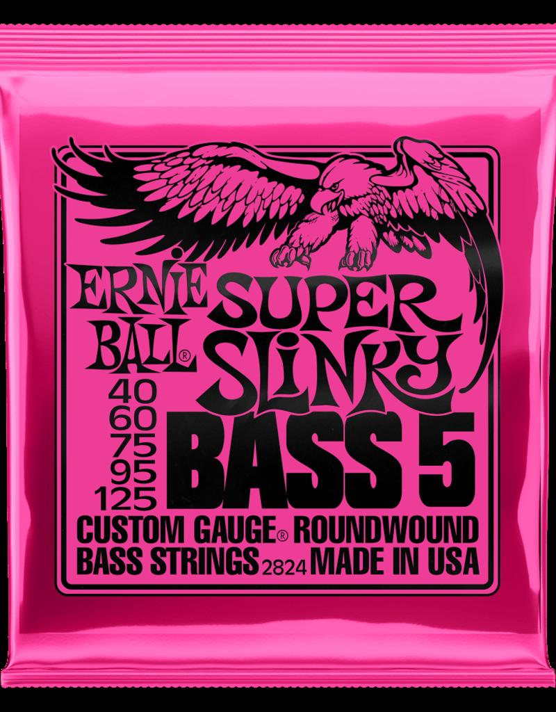 Ernie Ball Ernie Ball 2824 Super Slinky Nickel Wound Electric Bass Strings - .040-.125 5-string